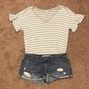 A New Day striped flutter sleeve top